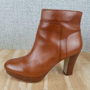 Nine West EDYTHEO Leather High Heel Ankle Boots
